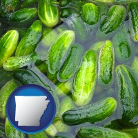 arkansas cucumber pickles processed in brine