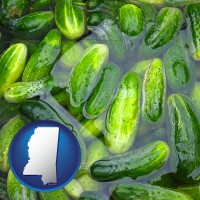 mississippi cucumber pickles processed in brine