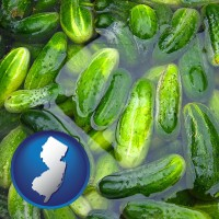 new-jersey cucumber pickles processed in brine