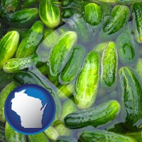 wisconsin cucumber pickles processed in brine